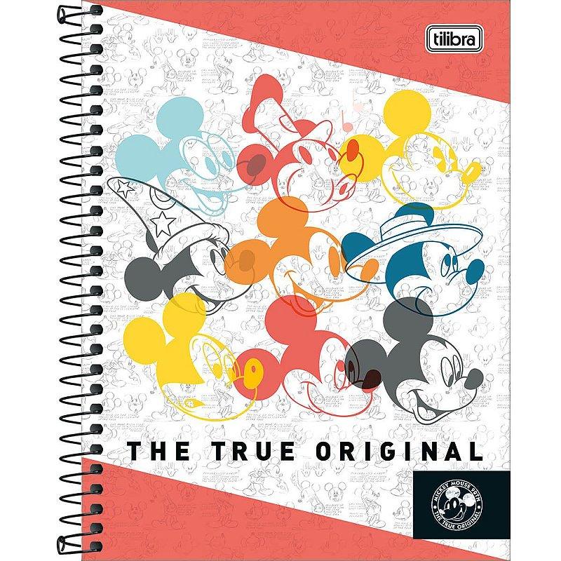 Caderno Colegial Tilibra Mickey 90 Anos True Original 10 Materias