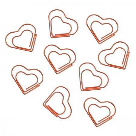 Clips Coração Ouro Rosé Tilibra