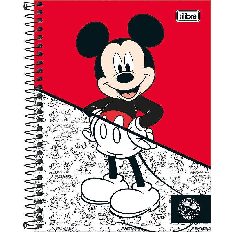 Caderno Colegial Tilibra Mickey 90 Anos Vermelho 1 Materia