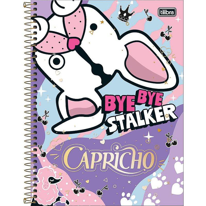 Caderno Universitário Tilibra Capricho Bye Bye 1 materia