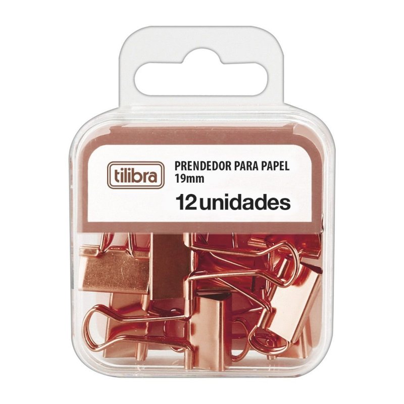 Clips Binder Ouro Rosa 19mm