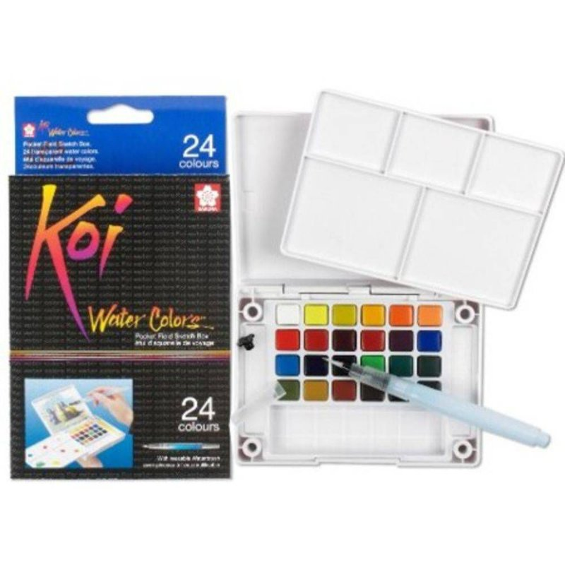 Conjunto de aquarela Koi Water Colors 24 Cores