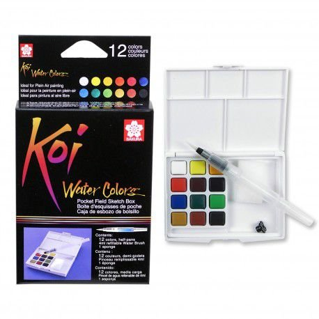 Conjunto de aquarela Koi Water Colors 12 Cores