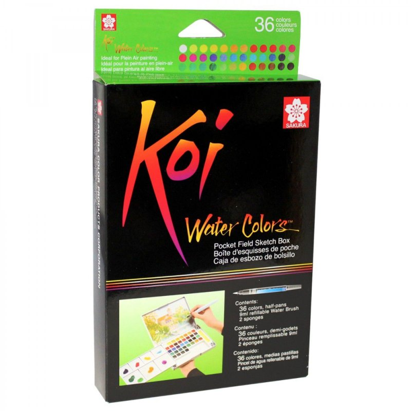 Conjunto de aquarela Koi Water Colors 36 Cores