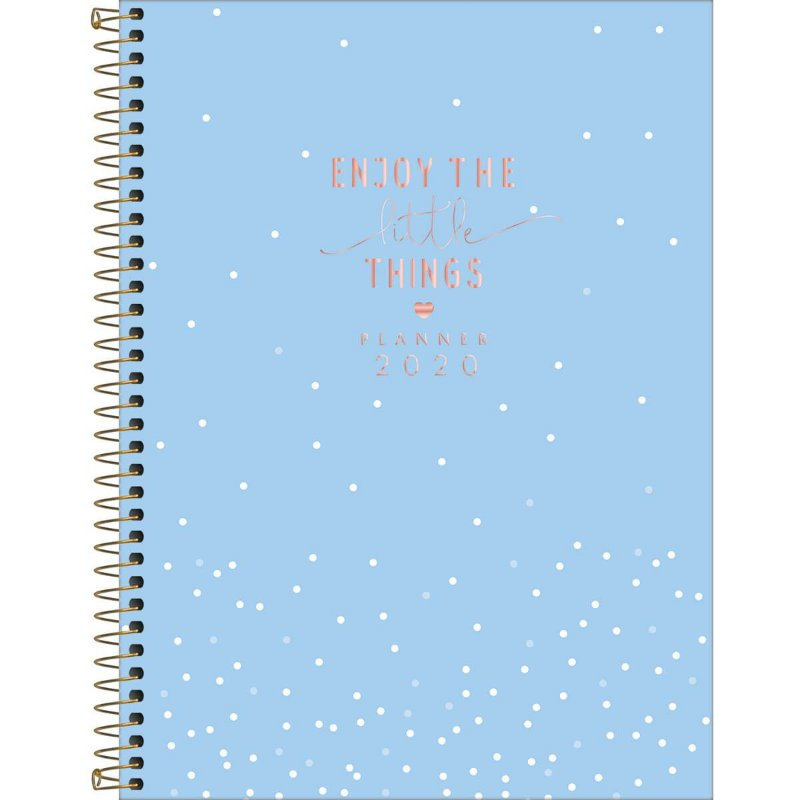 Planner Tilibra Soho 2020 Grande Little Things Azul