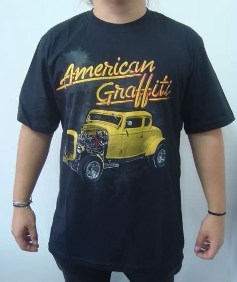07e129ea9 Camiseta - Hot Rod - American Graffiti. Código  PBK4DM32L. Camiseta - Hot  Rod ...
