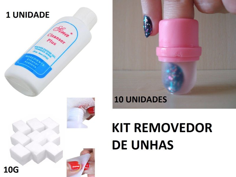 Kit Removedor de unhas acrigel, Porcelana Postiças