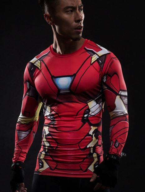 Camisa Camiseta Homem de Ferro Manga Longa Mod 2 - Compressão ... c3dbc91cbb17d