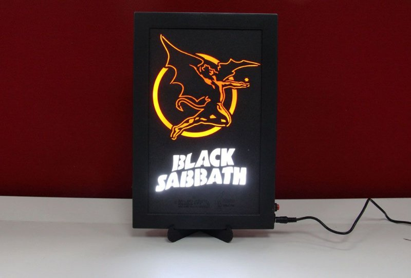 Luminoso Decorativo Black Sabbath