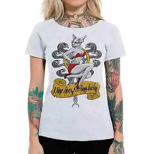 Camiseta Feminina Aero Kitty Branca