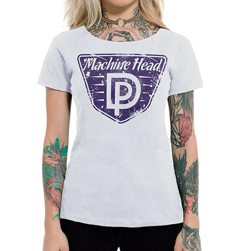 Camiseta Feminina Machine Head Branca