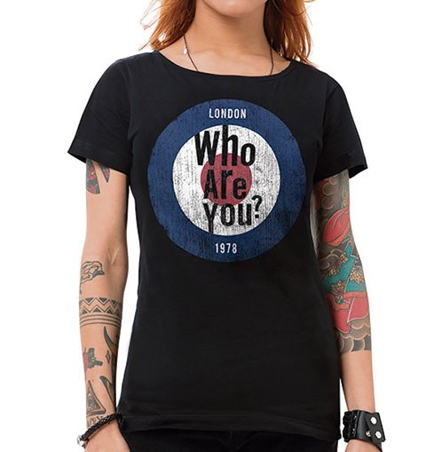 Camiseta Feminina Who Are You Preta