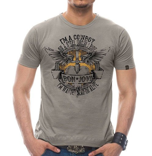 Camiseta Masculina Dead or Alive Cinza