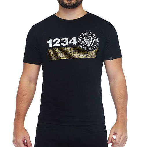 Camiseta Masculina Ramones Preta