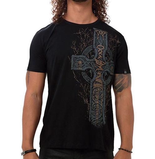 Camiseta Masculina Sabbath Cross Preta