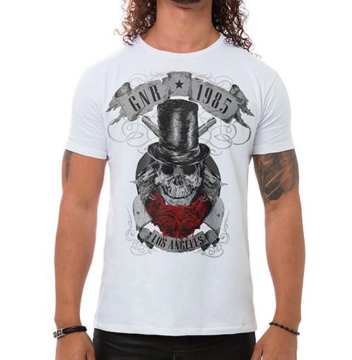 Camiseta Masculina GNR 1985 Branca