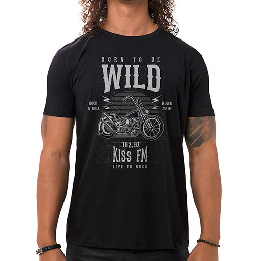 Camiseta Masculina Born To Be Wild Preta