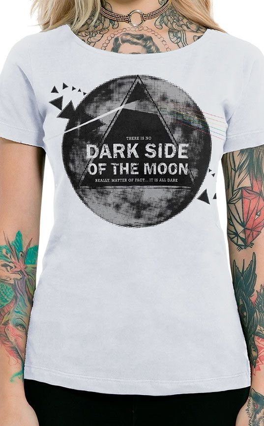 Camiseta Feminina Dark Side Branco
