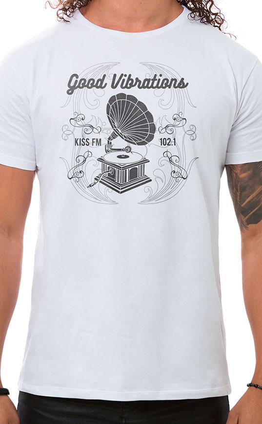 Camiseta Masculina Vibrations Branco