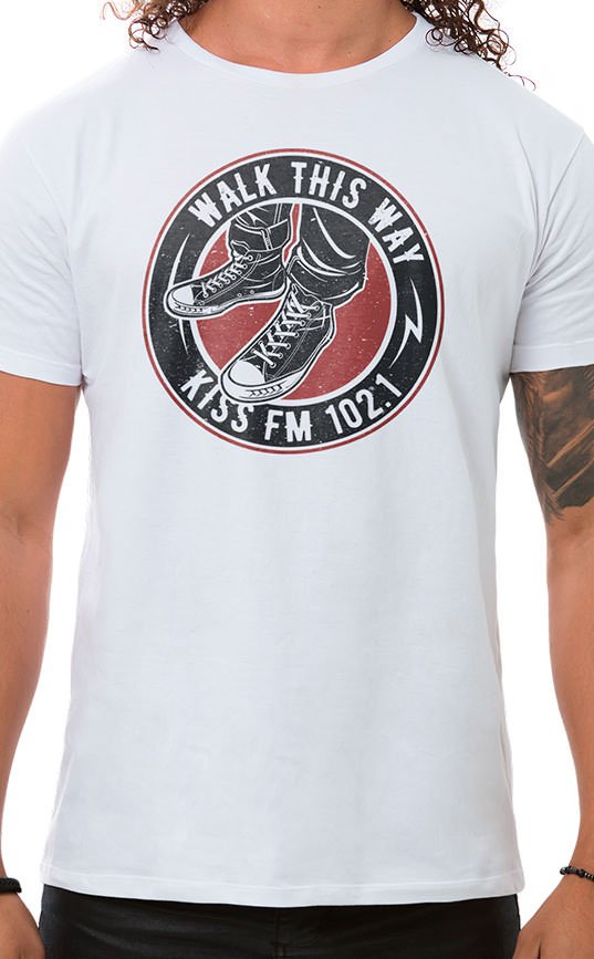 Camiseta Masculina Rock Shoes Branco