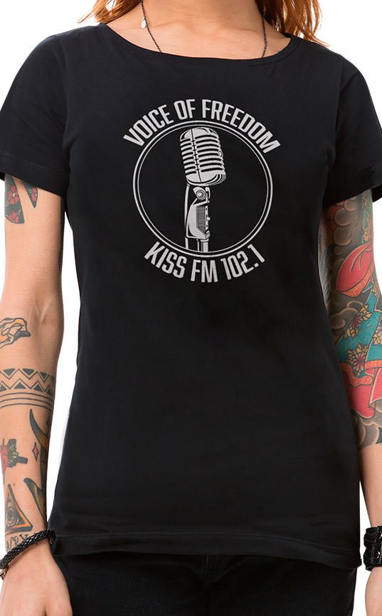 Camiseta Feminina Voice of Freedom Preto