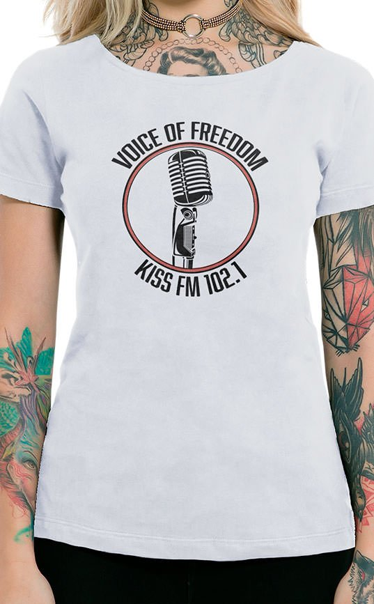 Camiseta Feminina Voice of Freedom Branco