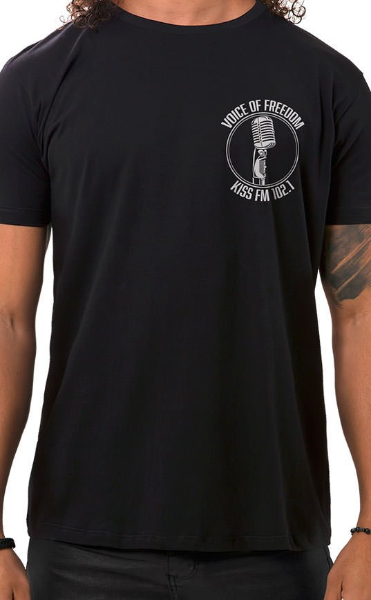 Camiseta Masculina Voice of Freedom XT Preto