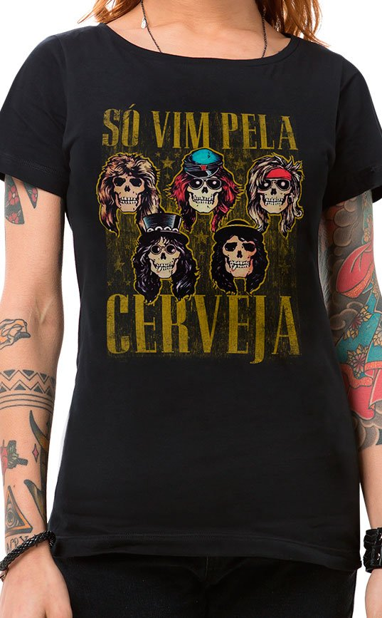 Camiseta Feminina Sweet Beer O Mine Preto