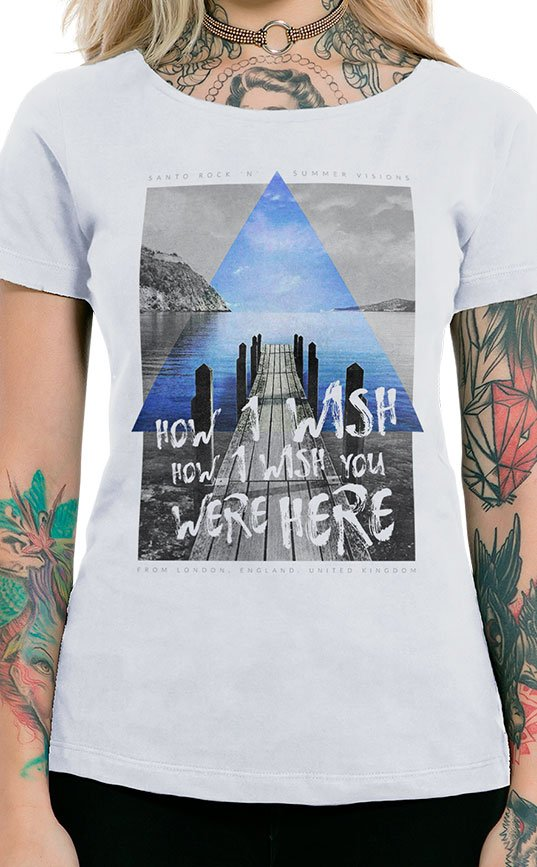 Camiseta Feminina How I Wish Branco