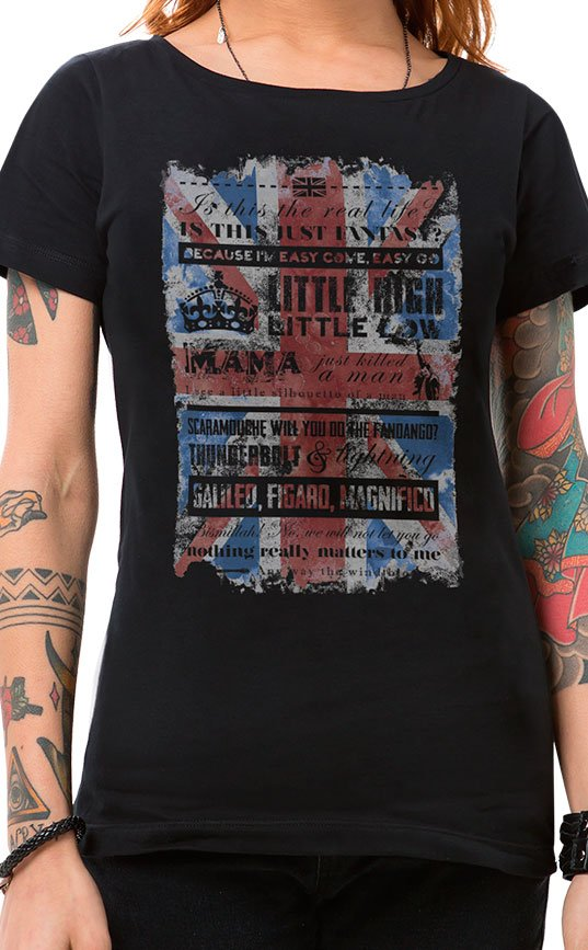Camiseta Feminina Bohemian Queen Preto