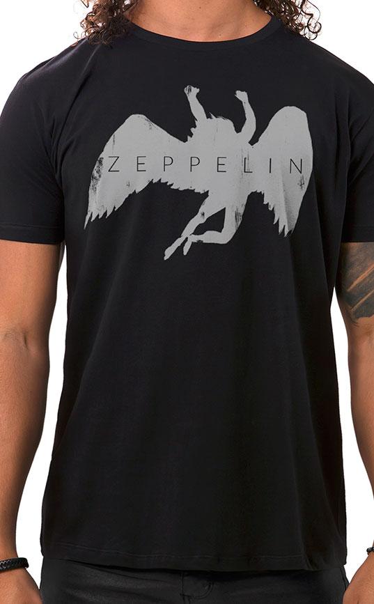 Camiseta Masculina Zeppelin Preto