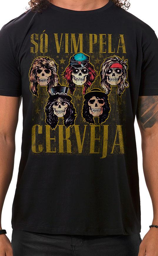 Camiseta Masculina Sweet Beer O Mine Preto