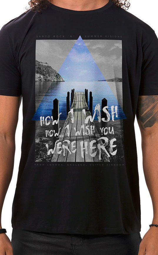 Camiseta Masculina How I Wish Preto