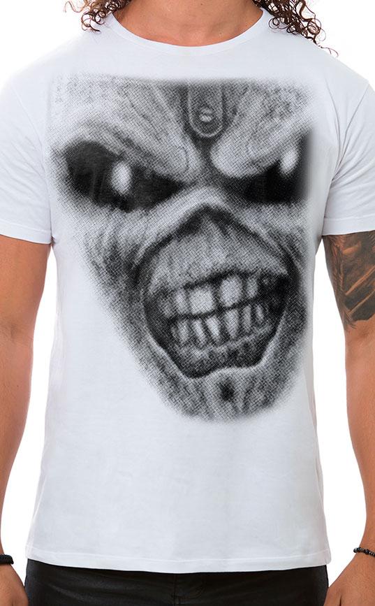 Camiseta Masculina Iron Eddie Branco
