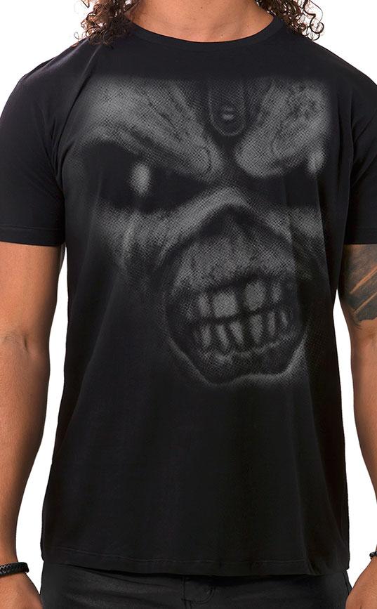 Camiseta Masculina Iron Eddie Preto