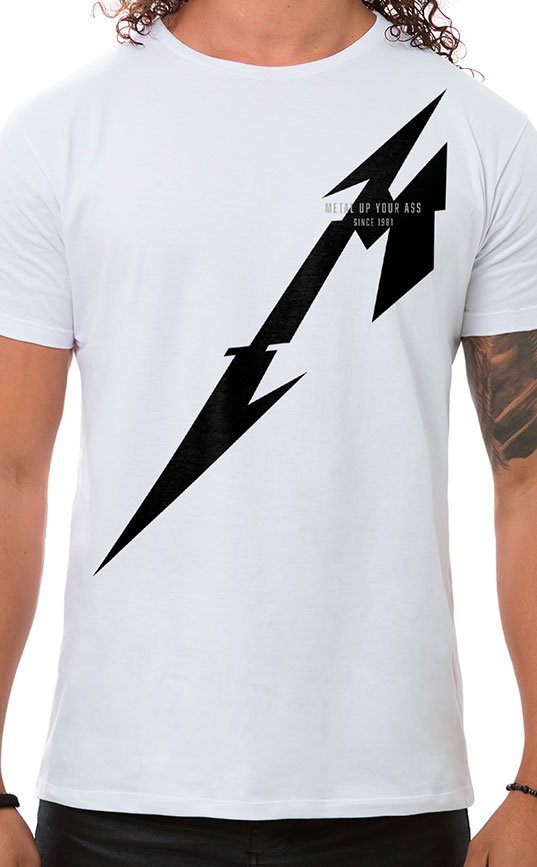 Camiseta Masculina Metal Up Branco