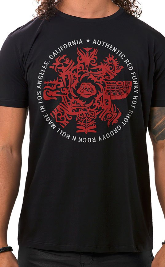 Camiseta Masculina Red Hot Groovy Preto
