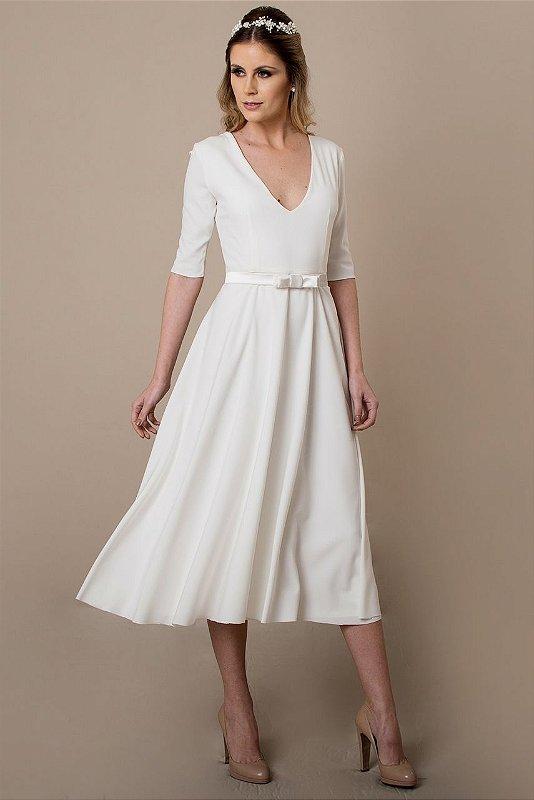 Vestido de Noiva Curto Ana - Vlr. de Venda