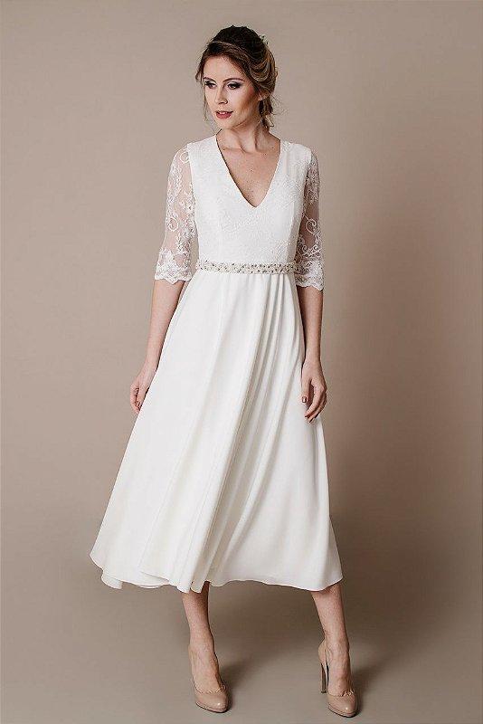 Vestido de Noiva Curto Mariana - Vlr. de Venda