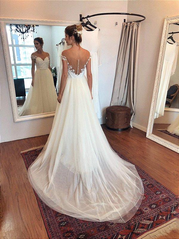 Vestido de Noiva Aline - Vlr. de Venda