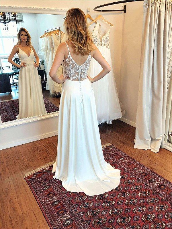 Vestido de Noiva Sara - Vlr. de Venda