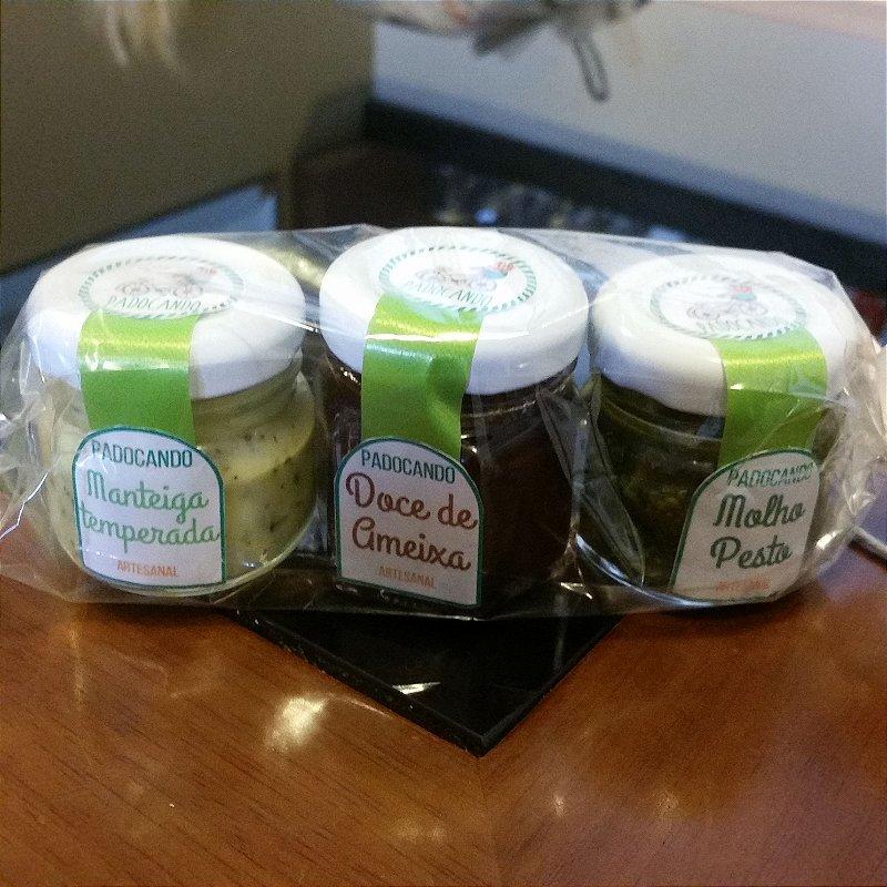 Kit Mini Pesto + Ameixa + Manteiga Padocando