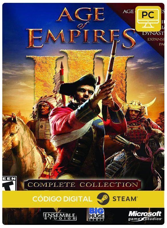 Age of Empires III Complete Collection Steam CD Key Pc Steam Código De  Resgate Digital