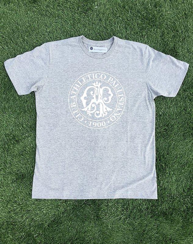 Camiseta Oficial (cinza mescla)