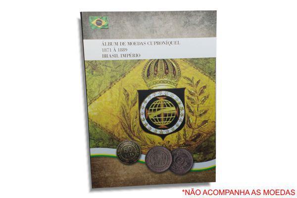 Álbum para Moedas Cuproníquel 1871 - 1889 Brasil Império
