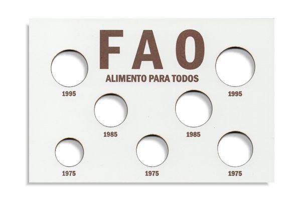 Placa de Madeira para série de moedas da FAO