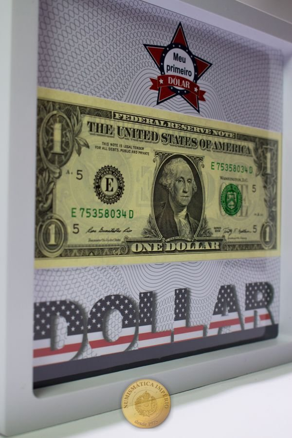 Display de Plástico - Meu Primeiro Dólar