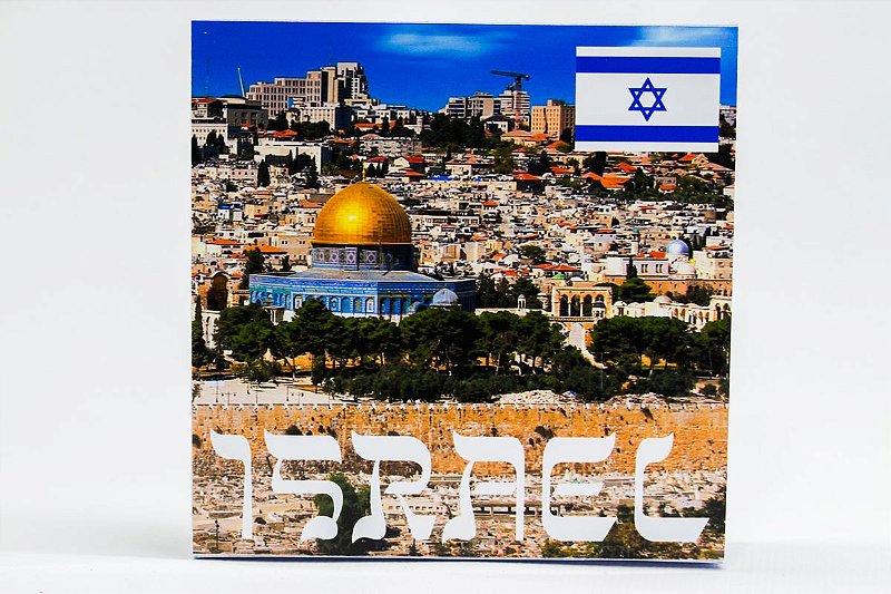 Display de Plástico - Israel com 1 moeda circulada