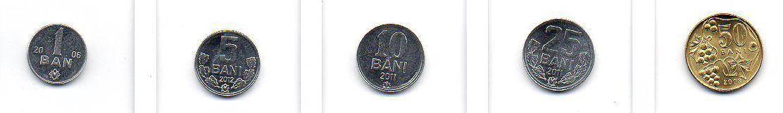 Set Moedas da Moldávia - 5 moedas