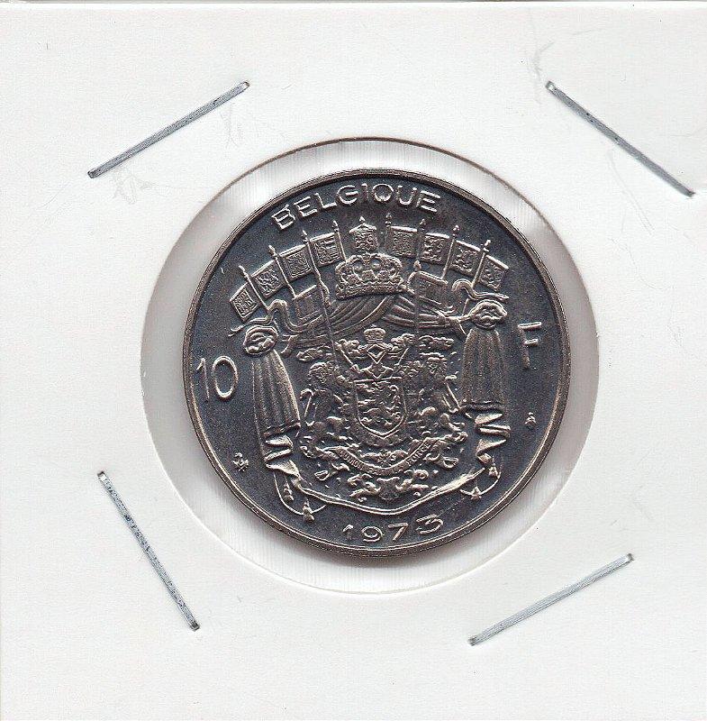 Moeda da Bélgica - 10 Francos - 1973